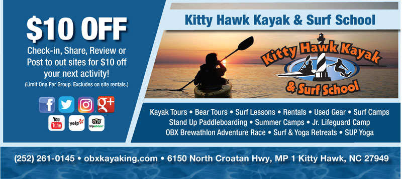 Kitty Hawk Kayak and Surf School Gift Certificates