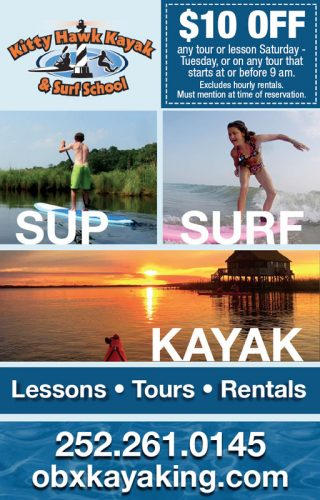 Kitty Hawk Kayak and Surf School Magazine Ad