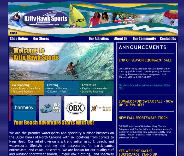 Kitty Hawk Sports Online Store