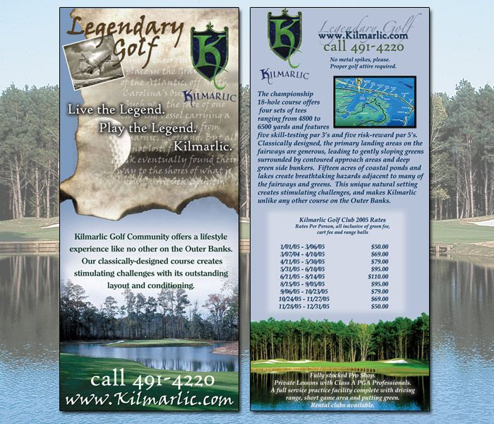 Kilmarlic Golf Rack Cards