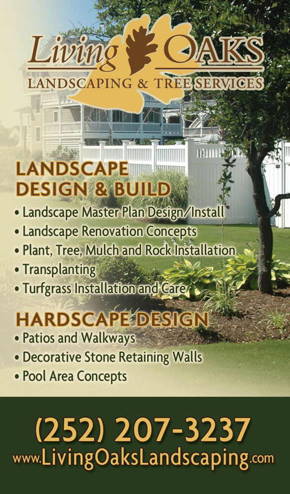 Living Oaks Landscaping Phone Book Ads