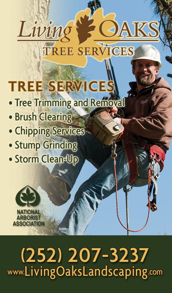 Living Oaks Landscaping Phone Book Ad