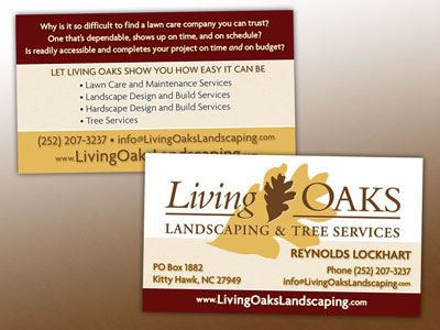 Living Oaks Business Card