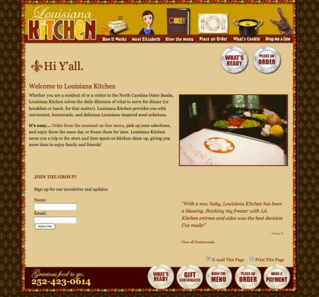 Louisiana Kitchen Catering Website