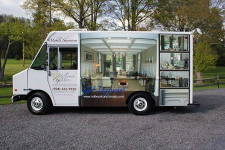 Millwork & More Mobile Showroom Branding