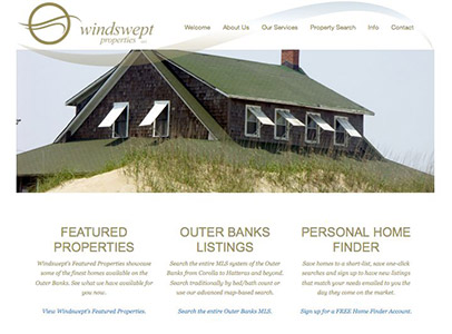 Windswept Properties MLS/IDX Website