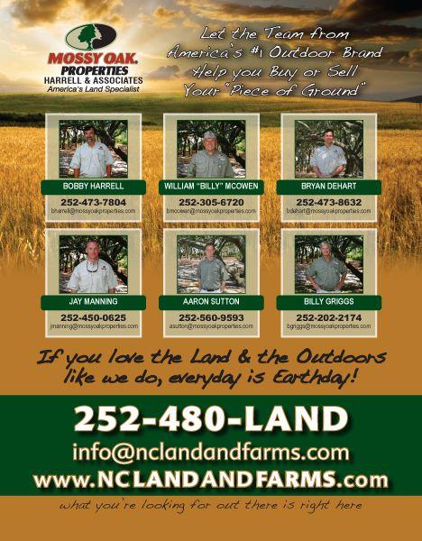 Mossy Oak Properties NC Land & Farms Sportsman Magazine Ad
