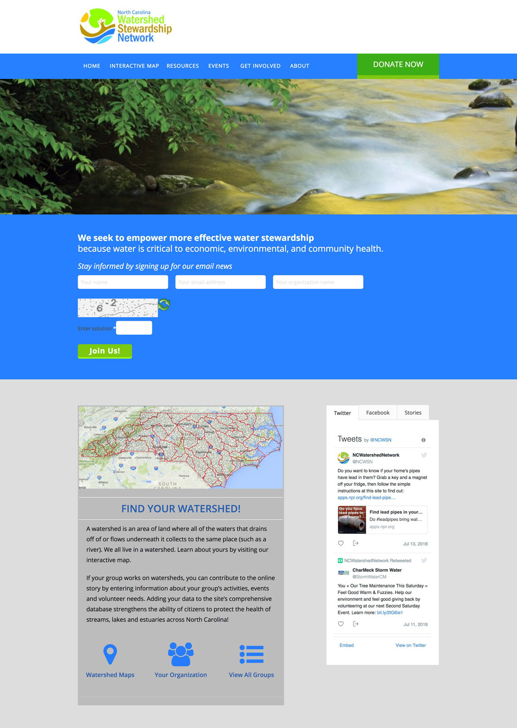 NC Watershed Stewardship Network Website