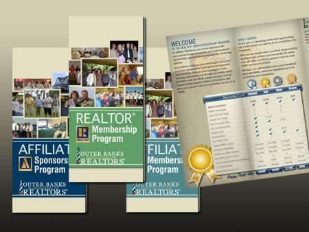 Outer Banks Association of REALTORS Membership and Sponsorship Trifold Brochures