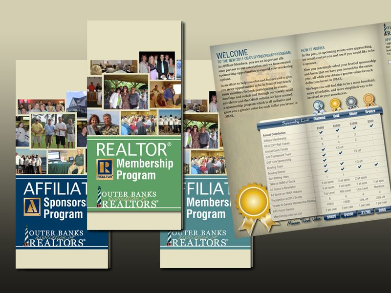 Outer Banks Association of REALTORS Membership and Sponsorship Trifolds