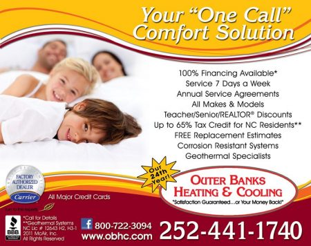 Outer Banks Heating & Cooling Beach Book Ad