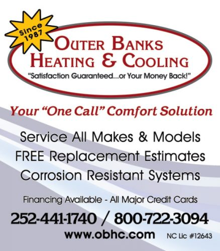 Outer Banks Heating and Cooling Phone Book Ads