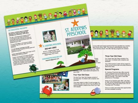 St. Andrews Preschool Trifold Brochure