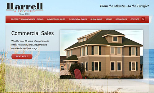 Harrell & Associates CMS Real Estate Website