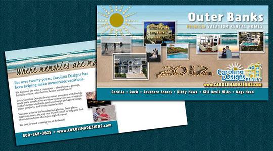Carolina Designs Rentals Postcard