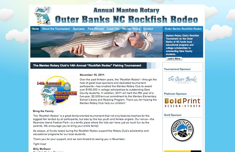 Manteo Rotary Rockfish Rodeo Non-Profit Website