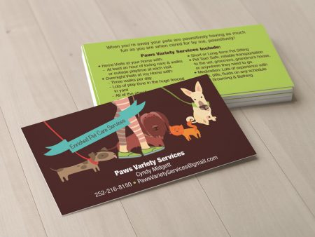 Paws Variety Services Business Card