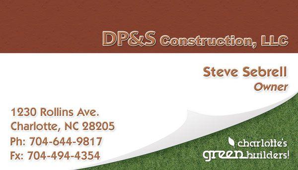 DP&S Construction Business Card