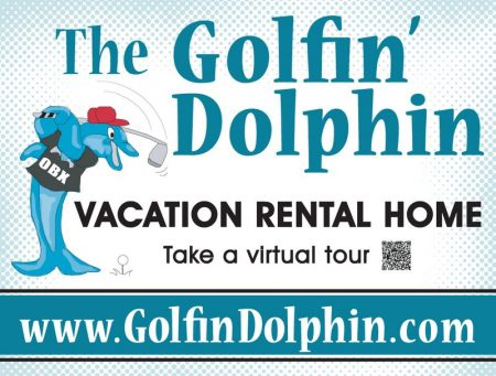 Golfin' Dolphin Vacation Rental Sign