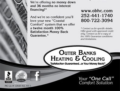 Outer Banks Heating & Cooling Sentinel Ad