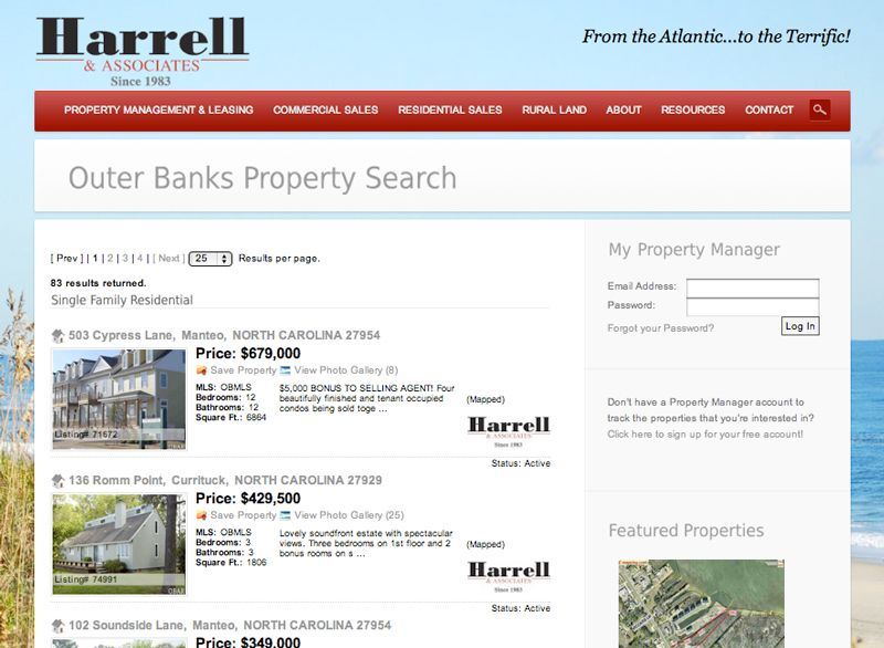 outer banks commercial real estate for lease