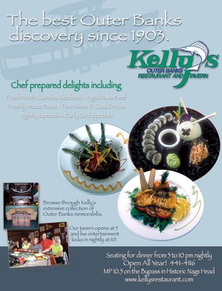 Kelly's Restaurant and Tavern Ad