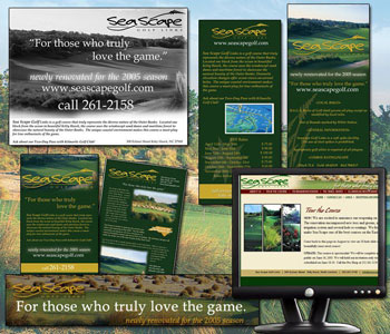 Seascape Golf Branding