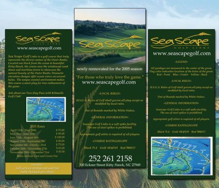 Sea Scape Golf Rack Card