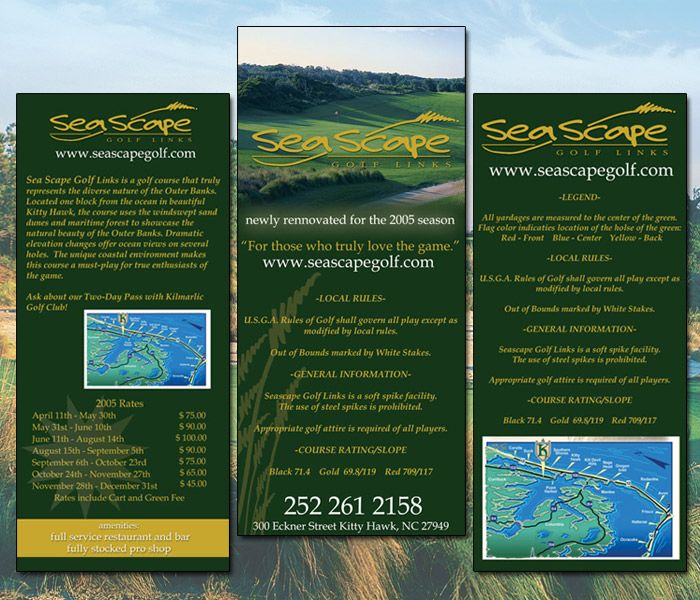 Sea Scape Golf Rack Card
