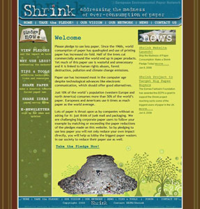 Shrink Paper Website