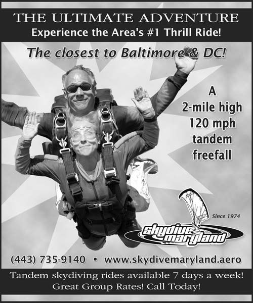 Skydive Maryland Newspaper Ads