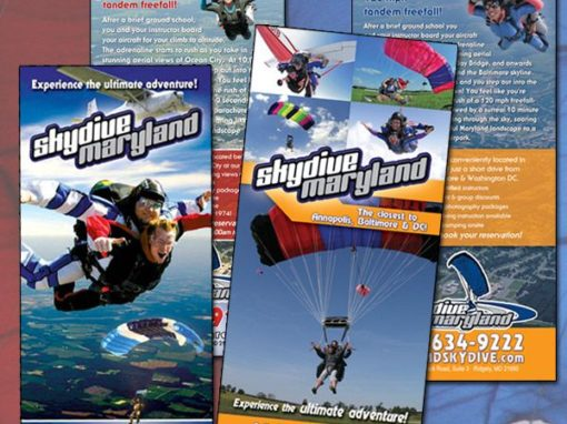 Skydive Maryland Rack Cards