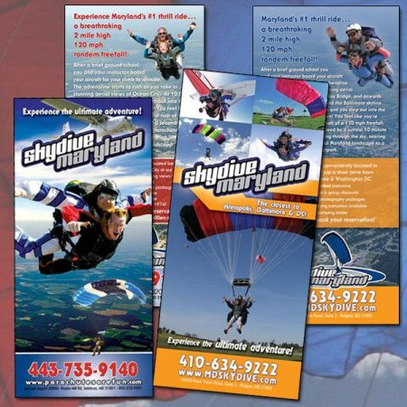 Skydive Maryland Rack Cards