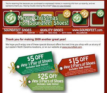 Sound Feet Shoes Email Campaign