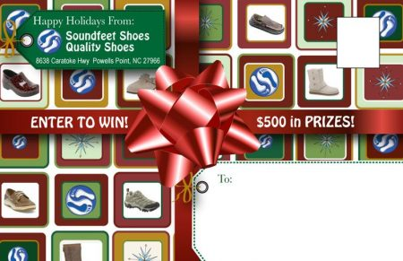 Sound Feet Shoes Holiday Specials Postcard Campaign