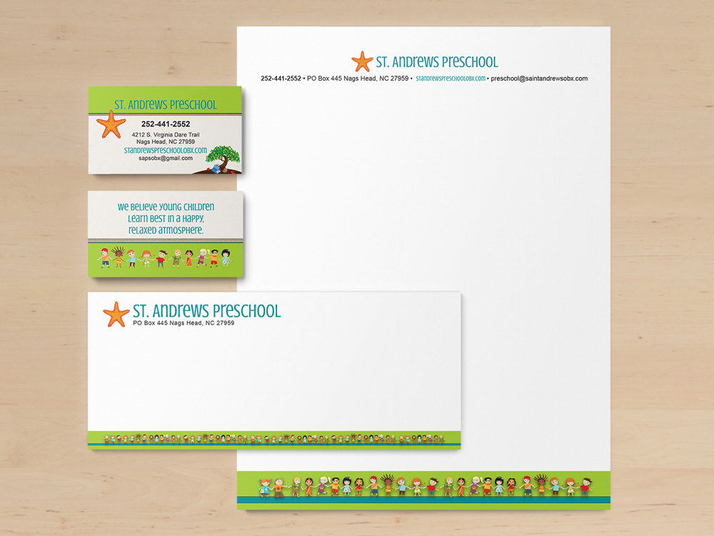 St. Andrews Preschool Stationery Design