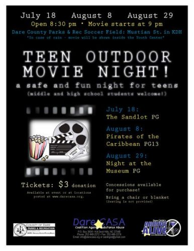 Dare CASA Teen Movie Night Poster