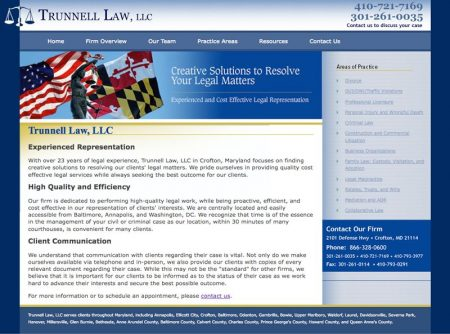Trunnell Law Professional Website
