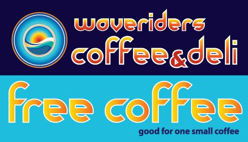 Waveriders Coffee & Deli Promotions