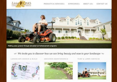 Living Oaks Landscaping Website