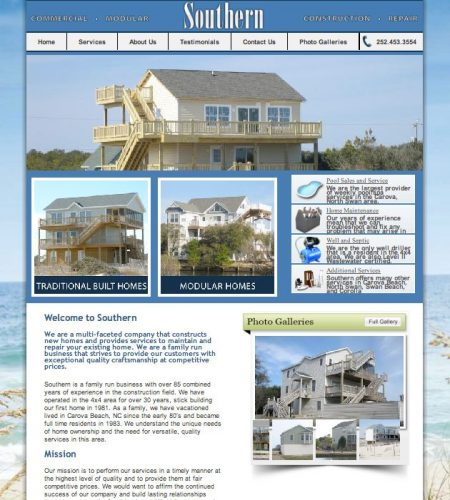Southern Commercial Construction Website
