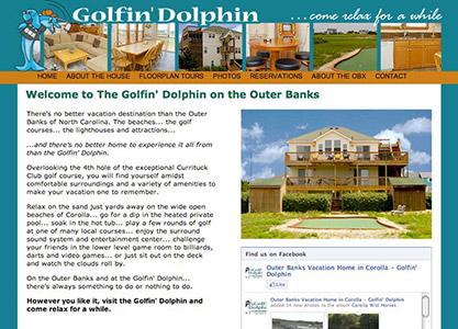 Golfin' Dolphin Rental Home Website