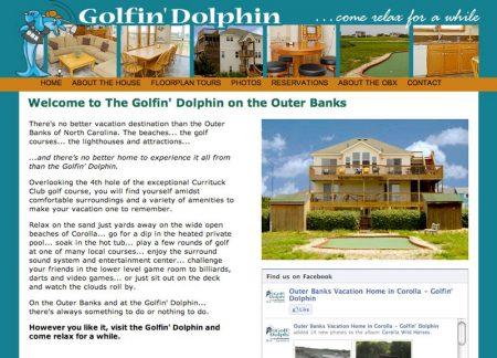 Golfin' Dolphin Vacation Rental Home Website