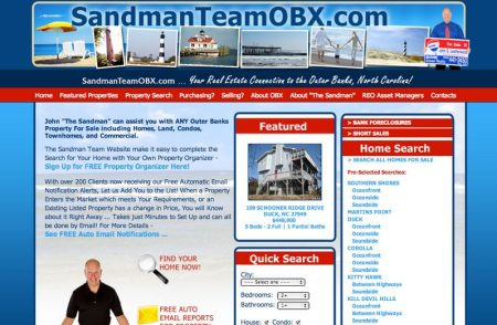Sandman Team OBX MLS Real Estate Website