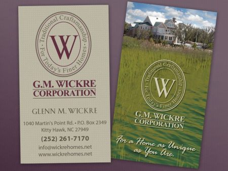 G.M. Wickre Corporation Business Cards