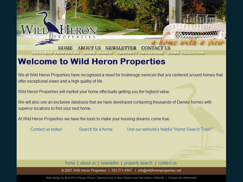 Wild Heron MLS Real Estate Website