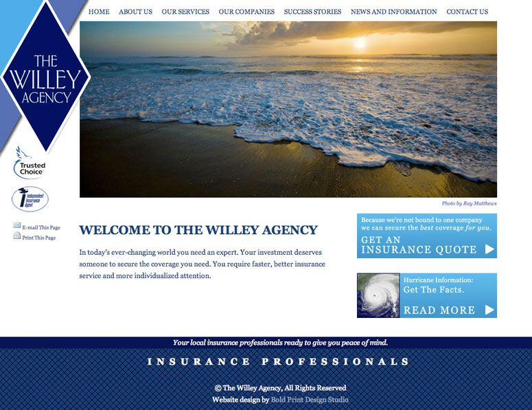 Willey Agency Homepage