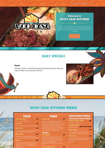 Woo Casa Kitchen Website