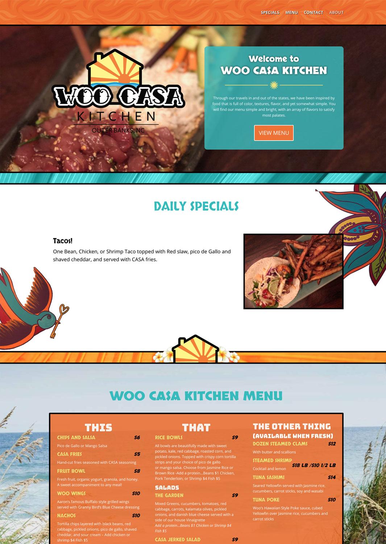 Woo Casa Kitchen Website
