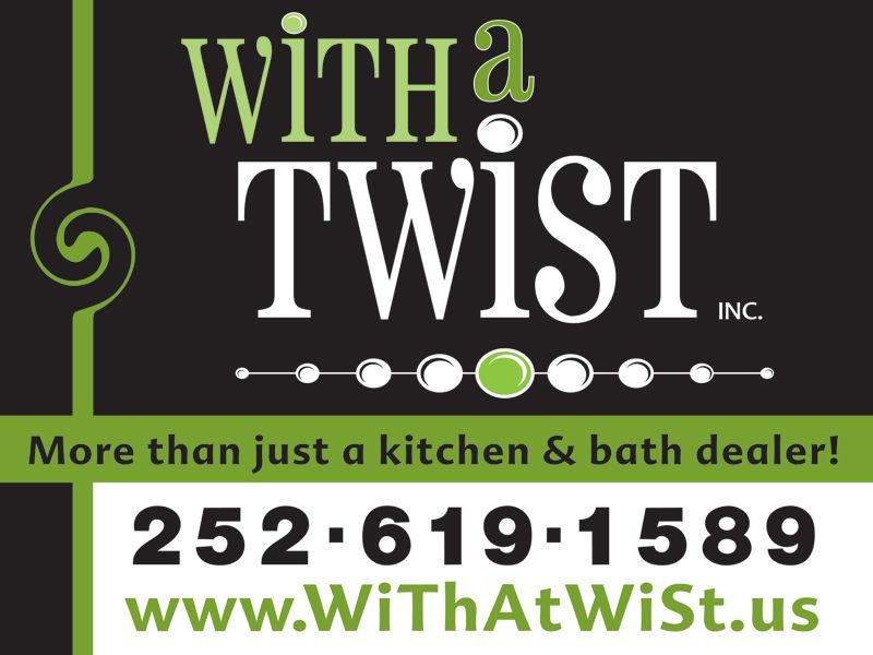 With a Twist Yard Sign